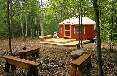 Frost Mountain Yurts Brownfield Maine Camp Native